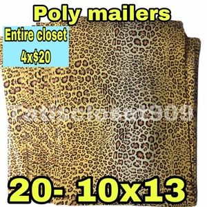 Other - Just in || 20 Poly mailers cheetah print 10x13
